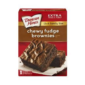 Duncan Hines Chewy Fudge Brownie BB Apr 17